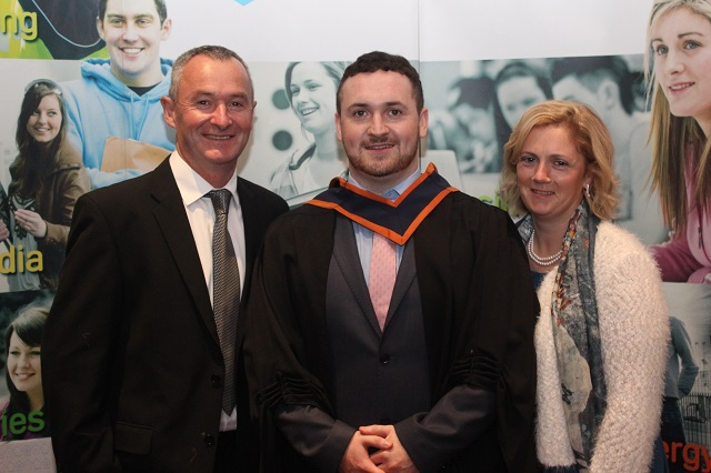 Tommy Skehill, Alan Skehill, Glaway (Agricultural Engineering) and Catherine Skehill at the IT Tralee graduation ceremony at the Brandon Hotel on Friday. Photo by Gavin O'Connor.