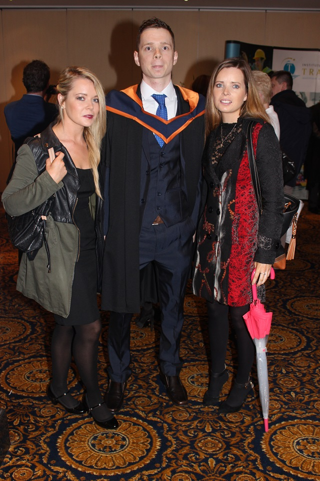 Francine Locke, Adrian Locke, Ballymacelligott (Engineering) at the IT Tralee graduation ceremony at the Brandon Hotel on Friday. Photo by Gavin O'Connor.