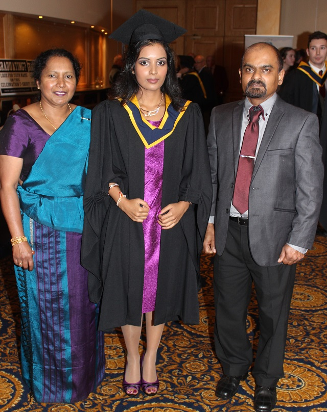 Nashanthi Malarachchi, Hiruni Hettiarachchi, Tarbert (Pharmaceutical Analysis with Forensic) and Shantha Hettiarachchi at the IT Tralee graduation ceremony at the Brandon Hotel on Friday. Photo by Gavin O'Connor.