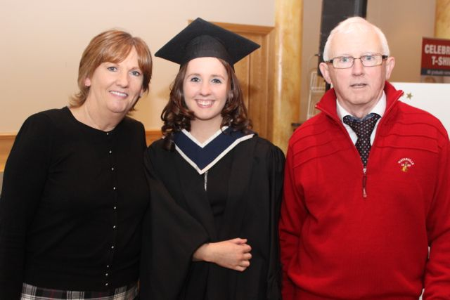 Kay O'Donoghue, Aisling O'Donoghue (Information Systms Management) and Noel O'Donoghue at the ITT graduation ceremony at the Brandon Hotel on Thursday. Photo by Gavin O'Connor