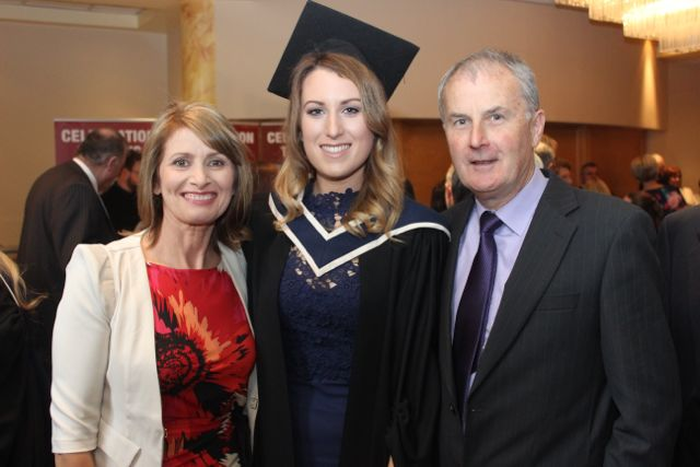 Anne Manning, Clodagh Manning (Information Systems Management) and Padraig Manning at the ITT graduation ceremony at the Brandon Hotel on Thursday. Photo by Gavin O'Connor