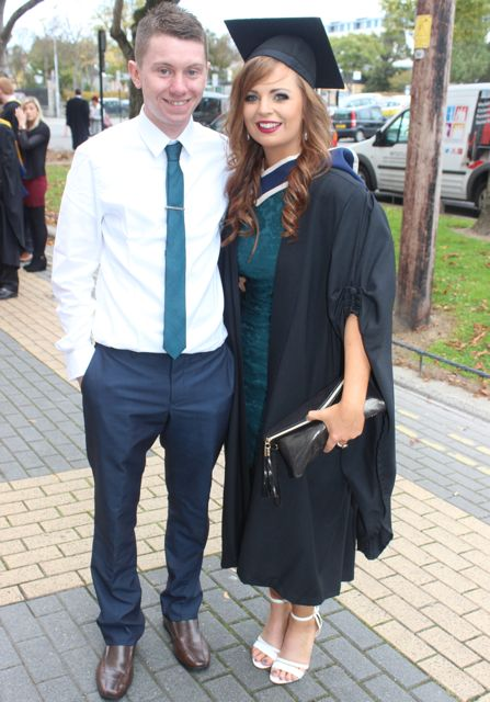 Kieran O'Regan and Jeanann O'Connell (Business Studies) at the ITT graduation ceremony at the Brandon Hotel on Thursday. Photo by Gavin O'Connor