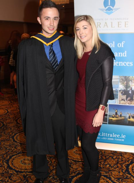 Danial Sheehan (Computing with Games Development) and Laura Hickey at the ITT graduation ceremony at the Brandon Hotel on Thursday. Photo by Gavin O'Connor