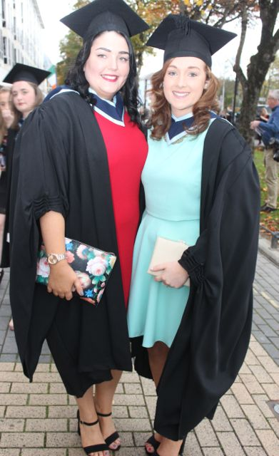 Sinead O'Connor, Milltown and Aoife O'Connor, Beaufort, who qualified in Early Childhood Care and Education at the IT Tralee graduation ceremony at the Brandon Hotel on Friday. Photo by Dermot Crean