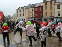 The Inspired group perform 'Thriller' in The Square. Photo Fiachra O'Connor.