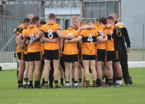 Austin Stacks in the huddle before the match. Photo by Dermot Crean.