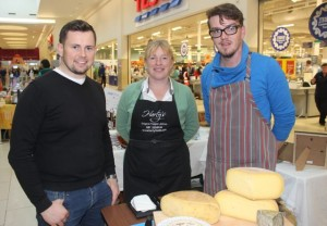 Niall Harty of Caveman Food Company, Melanie Harty of Harty's Jellies and Mattie Doody of Siopa Feirme, Waterville, at the Taste Of Tralee event in Manor West on Saturday. Photo by Dermot Crean