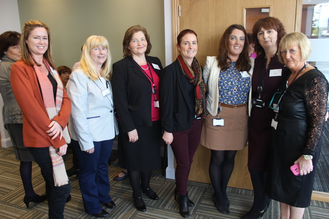 At the Kerry Education and Training Board official opening by minister Jan O'Sullivan were, from left: Joanne Fitzgibbon, Bernie Walsh, Marianne Marshall, Olivia Lynch, Lisa Murphy, Helen O'Mahony and Martina Ronan. Photo by Gavin O'Connor.