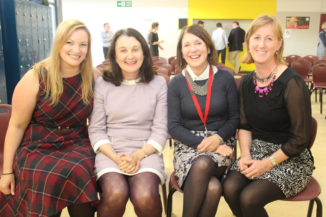 At the Kerry College of Further Education for the official opening by minister Jan O'Sullivan were, Triona Mulcahey, Eileen Kennedy, Helen Brick and Mary Galvin. Photo by Gavin O'Connor.