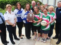 At the launch of Mná Na nGaeil v Gardaí charity match were, from left: Sgt Eileen O'Sullivan, Majella Forde, Cecilia Scanlon, Liz Twomey, Eddie Sheehy, Siobhan Quigley, Margeret Maunsell, Sharon Roche, Mary Sheehy and Insp Tony Sugrue. Photo by Gavin O'Connor.