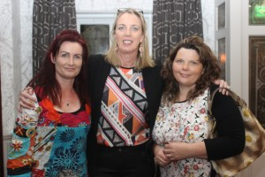 At the Tralee Parnells Mark Doe cookery demonstration in the Meadowlands were, from left: Samantha Palmer, Teresa Lonergan, and Kate Dunne. Photo by Gavin O'Connor.