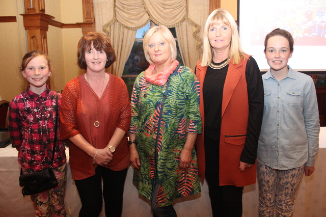 At the Tralee Parnells Mark Doe cookery demonstration in the Meadowlands were, from left: Aoife O'Sullivan, Geraldine Laffan, Jenny Sheehy, Bernie Canty and Saoirse Maloney. Photo by Gavin O'Connor.