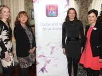 Mary Rose Cantillon AIB, Mairead Moriarty, Ashmore Learning Solutions, Hannah Flynn, Flynn's Dental Care and Siobhan Barrett AIB Tralee, at the AIB lunch for women in business at Ballyseede Castle Hotel on Tuesday. Photo by Dermot Crean