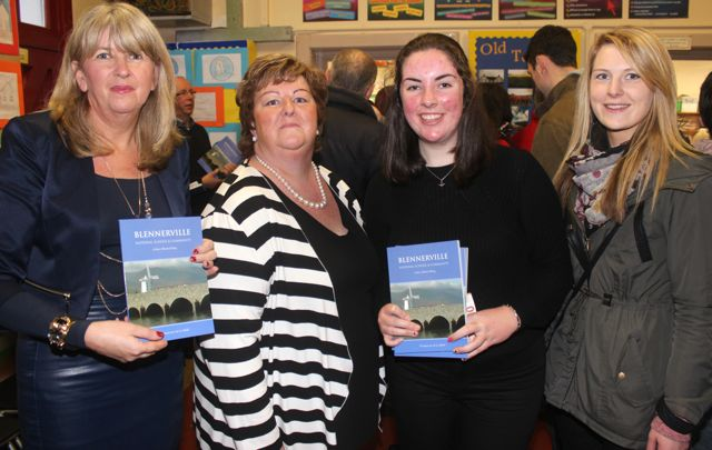 Mary Wallace, Ann Walsh, Rebecca Devane and Deirdre Poff at the launch of 'Blennerville School And Community - A Story Worth Telling' at the school on Saturday. Photo by Dermot Crean