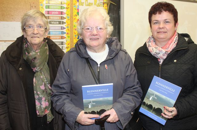 Mary Enright, Mary Collins and Helen Moriarty at the launch of 'Blennerville School And Community - A Story Worth Telling' at the school on Saturday. Photo by Dermot Crean