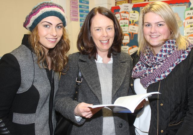 Olivia O'Shea, Rose O'Connor and Sarah Dinan at the launch of 'Blennerville School And Community - A Story Worth Telling' at the school on Saturday. Photo by Dermot Crean