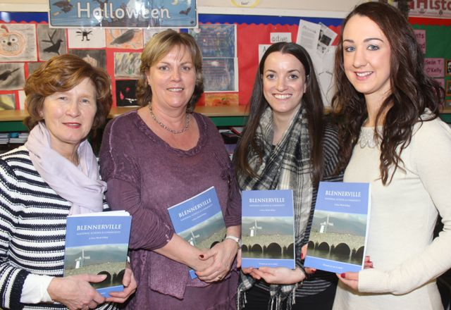 Liz O'Connor, Anne Marie Scott, Sorcha Ryan and Denise Shanahan at the launch of 'Blennerville School And Community - A Story Worth Telling' at the school on Saturday. Photo by Dermot Crean