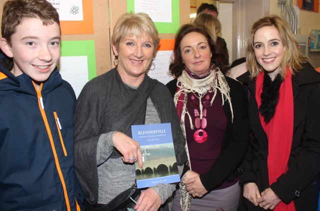 Nathan and Jacinta Costello, Maeve Moran and Charlotte Costello at the launch of 'Blennerville School And Community - A Story Worth Telling' at the school on Saturday. Photo by Dermot Crean