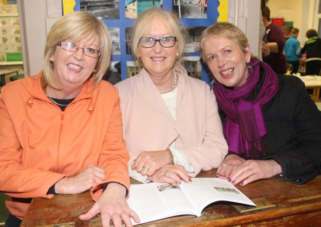 Past pupils, sisters Noreen, Margaret and Mary Glazier at the launch of 'Blennerville School And Community - A Story Worth Telling' at the school on Saturday. Photo by Dermot Crean