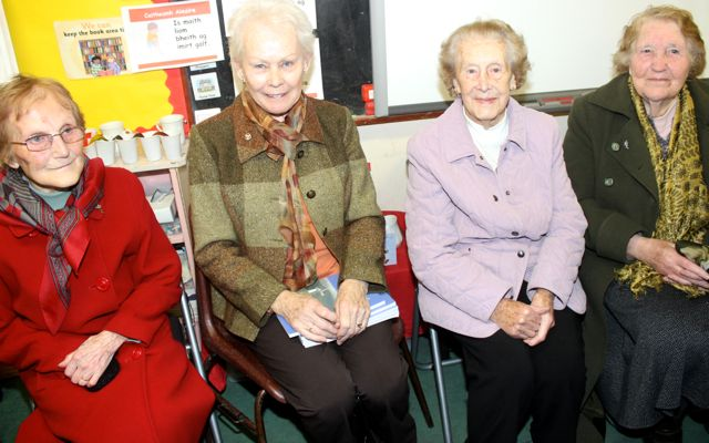Mary Bowler, Celia Cooke, Mary Daly and Milly Kelliher at the launch of 'Blennerville School And Community - A Story Worth Telling' at the school on Saturday. Photo by Dermot Crean