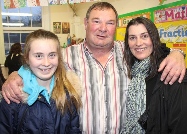 Katie Moriarty, Michael O'Connor and Denise Allman at the launch of 'Blennerville School And Community - A Story Worth Telling' at the school on Saturday. Photo by Dermot Crean