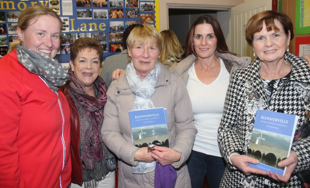 Andrea O'Donoghue, Eileen Bailey, Mary O'Donoghue, Therese Greaney and Maureen Walsh at the launch of 'Blennerville School And Community - A Story Worth Telling' at the school on Saturday. Photo by Dermot Crean