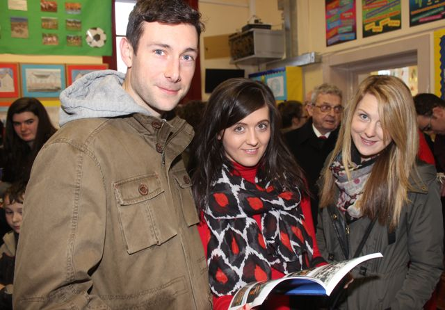Brendan Poff, Emma Sugrue and Deirdre Poff at the launch of 'Blennerville School And Community - A Story Worth Telling' at the school on Saturday. Photo by Dermot Crean