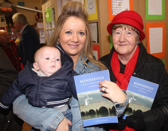 Shane and Louise O'Brien with Eileen Diggins at the launch of 'Blennerville School And Community - A Story Worth Telling' at the school on Saturday. Photo by Dermot Crean