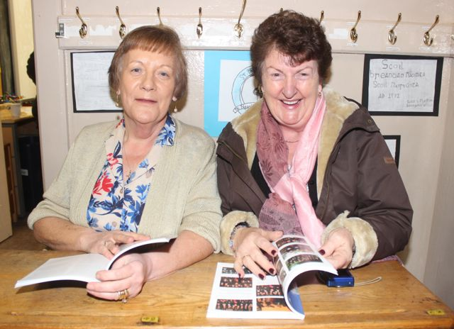 Past pupils Lily Bailey and Eileen Kelly at the launch of 'Blennerville School And Community - A Story Worth Telling' at the school on Saturday. Photo by Dermot Crean