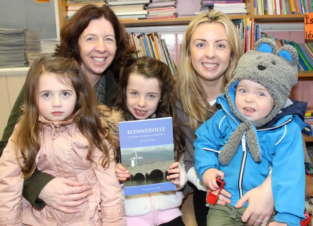 Caroline, Kaela and Keelin Reidy with Michelle and Noah Fealy at the launch of 'Blennerville School And Community - A Story Worth Telling' at the school on Saturday. Photo by Dermot Crean