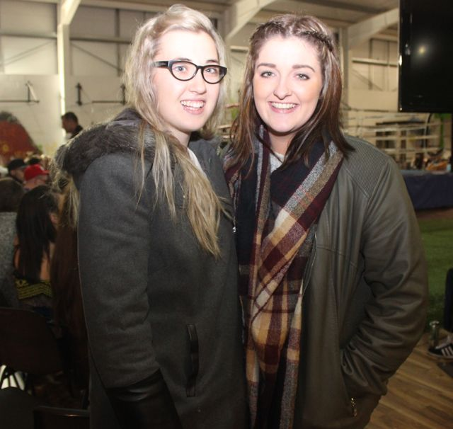 Shannon Mulvihill and Nicole O'Sullivan at the charity fight night in aid of the Miscarriage Association of Ireland at the BTS Fitness gym in Manor Park on Thursday night. Photo by Dermot Crean
