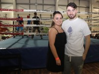Katie O'Donoghue and Akeem Molloy who organised the charity fight night in aid of the Miscarriage Association of Ireland at the BTS Fitness gym in Manor Park on Thursday night. Photo by Dermot Crean