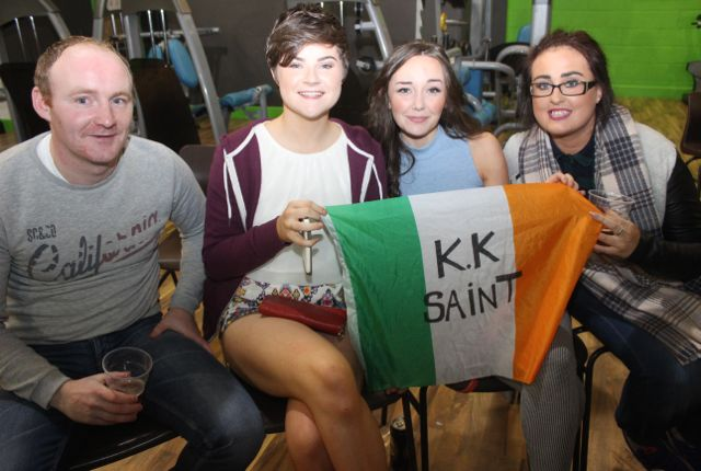 Joe Weir, Annie Cooper, Róisín Hall and Megan Hough at the charity fight night in aid of the Miscarriage Association of Ireland at the BTS Fitness gym in Manor Park on Thursday night. Photo by Dermot Crean
