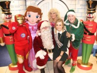 Santa Claus and friends joined by Rose of Tralee, Elysha Brennan at the launch of Santaland at CH Chemists on Saturday. Photo by Dermot Crean