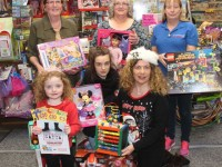 Launching the Caballs Toymaster St Vincent de Paul Christmas Toy Appeal at Caballs were, in front; Caragh Kelliher, Millie Moore and Treasa Walsh from St Vincent de Paul. Back from left; Ann Laide of Caballs Toymaster Marion Moore and Helen Locke of St VIncent de Paul. Photo by Dermot Crean