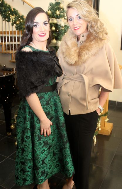 Jennifer Kissane and Lisa Martin, Tralee, at the Connect Publications Ladies Lunch and Fashion Afternoon in aid of MS Tralee /West Kerry Branch at the Ballyroe Heights Hotel. Photo by Dermot Crean