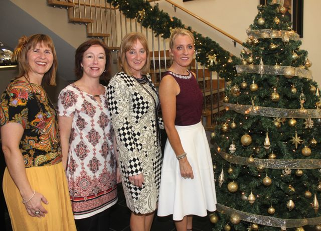 Angela Teahan, Emer Dourieu, Katie O'Neill and Ann Foley, Cromane, at the Connect Publications Ladies Lunch and Fashion Afternoon in aid of MS Tralee /West Kerry Branch at the Ballyroe Heights Hotel. Photo by Dermot Crean
