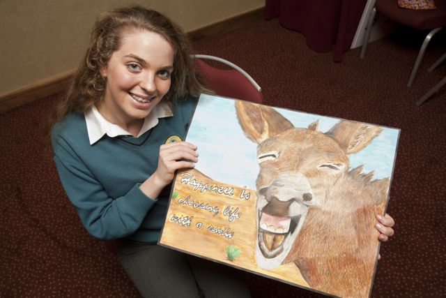 Roisin Lynch, Mercy Mouthawk with her winning entry in Tralee Credit Union's Credit Union Competition.