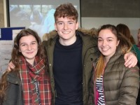 At the IT Tralee Open Day on in the North Campus were, from left: Danielle Balama, Sean Parnell, Yulia Ivanchoglo. Photo by Gavin O'Connor.