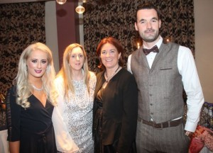 Ursula O'Keeffe, Angela O'Sullivan, Grace O'Donnell and John Dowling at the Tralee Imperials fundraising fashion show at the Fels Point Hotel on Friday night. Photo by Dermot Crean