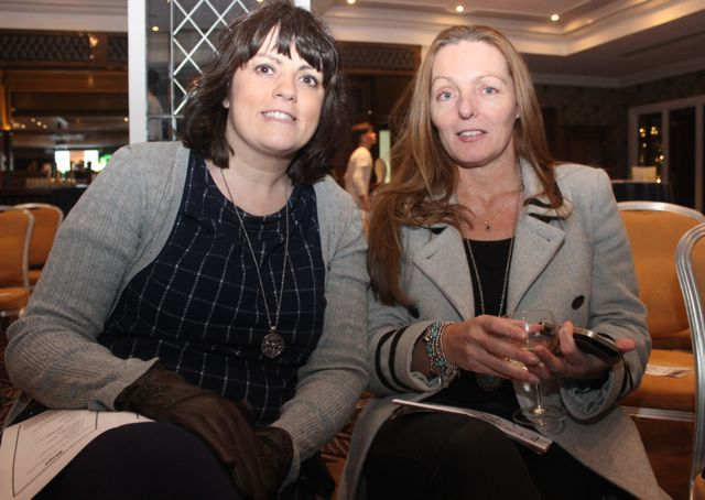 Loretta O'Leary and Helen Murphy at the Tralee Imperials fundraising fashion show at the Fels Point Hotel on Friday night. Photo by Dermot Crean