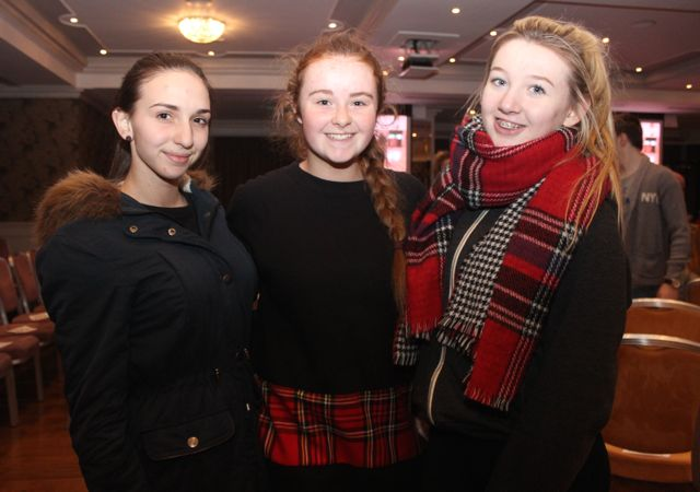 Ioana Ignatova, Ava Kelliher and Katie Jones at the Tralee Imperials fundraising fashion show at the Fels Point Hotel on Friday night. Photo by Dermot Crean