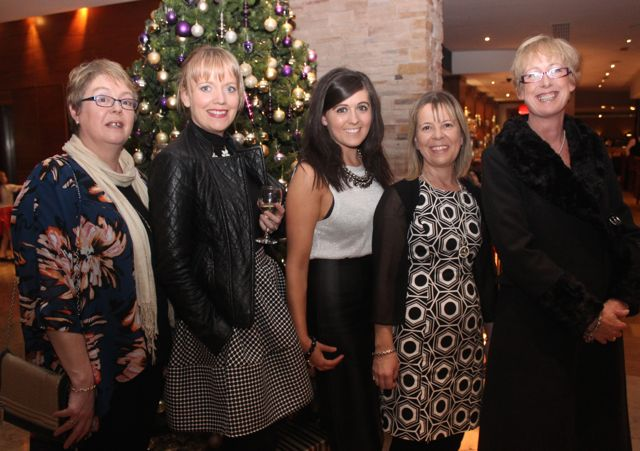 Aine Quinn, Catherine Moynihan, Emma Sugrue, Marie Hill and Sinead Curtin at the Tralee Imperials fundraising fashion show at the Fels Point Hotel on Friday night. Photo by Dermot Crean