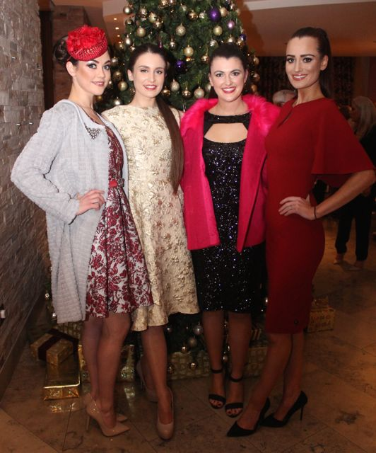 Aisling O'Connell, Shannon Woods, Laura Hoffman and Mags Kelliher Milner at the Tralee Imperials fundraising fashion show at the Fels Point Hotel on Friday night. Photo by Dermot Crean