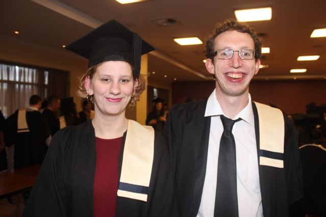Erin Quirke, Ballyseedy, (Criminology with Security Studies) and Brendan O'Connell, Tralee (Multimedia with Graphic Design) at the Kerry College of Further Education graduation ceremony at the Fels Point Hotel on Friday. Photo by Dermot Crean