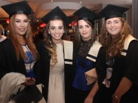 Ramona Scur, Tralee, Nicola O'Sullivan, Castlemaine, Emma Broderick, Athea, Catriona Hurley, Bantry, all qualified in Beauty Therapy at the Kerry College of Further Education graduation ceremony at the Fels Point Hotel on Friday. Photo by Dermot Crean