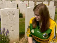 "RTÉ Nationwide special ""Writing Irish soldiers back into history"" Photo shows – Leslie McCarthy, at the graveside of"