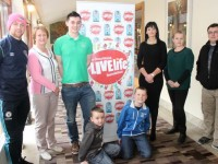 Launching the Donal Walsh Livelife Foundation Film Competition at the Fels Point Hotel were from left; Barry John Keane, Elma Walsh of the LiveLife Foundation, Ciaran O'Regan, Radio Kerry, Luke Boyle, Matthew Boyle, Mary Lucey of the LiveLife Foundation, Jennifer Boyle and Martin Houlihan of Digital Buzz (sponsor). Photo by Dermot Crean
