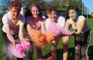 Mercy Mounthawk students who will take part in the schools first ever '5k Colour Run' were, from left: Gerald Tobin, Lauren O'Grady, Liam O'Mallay and Riadh Malik. Photo by Gavin O'Connor.