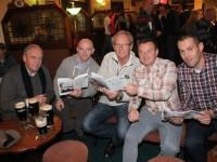 At the Na Gaeil GAA Race Night were, from left. Karl Bulman, Eugene Menea, Alan Bulman, Dave Carey and Rodney Harrington. Photo by Gavin O'Connor.